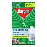 Baygon Genius Liquido Ricarica Anizanzare, 27 ml, 45 notti, Confezione da 1 Ricarica