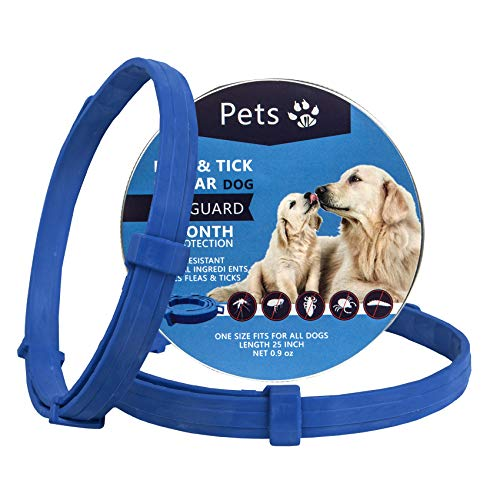 Petsvv 2 Pack Flea Collar for Dogs, Flea and Tick Prevention for Dogs, Safe and Allergy Free, Waterproof, Adjustable, 25 inch