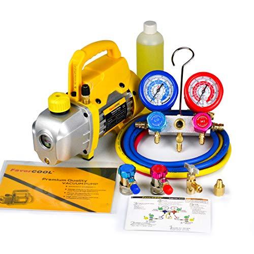vacuum pump gauge set - 9