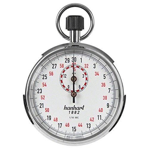 Hanhart ORIGINAL Kronenstopper Stoppuhr Stopuhr Stop Uhr 1/10 Sek. Einteilung