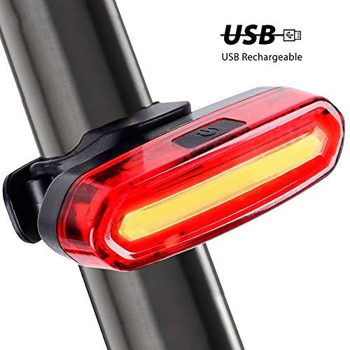 Hereforth Fahrrad Rücklicht, Licht für Fahrrad USB wiederaufladbare Fahrrad Fahrrad Radfahren Sicherheit Strobe Warnlicht Rücklicht für Rennrad MTB Radfahren,Camping usw 1