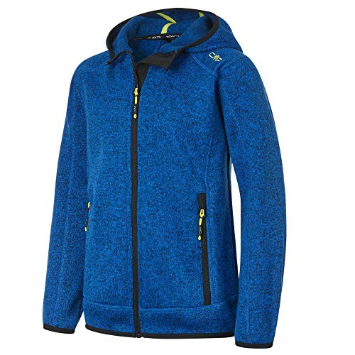 CMP Jungen Strickfleece Jacke 3H60844, Royal-Lemonade, 128