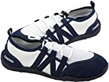 Cressi Elba Pool Shoes - Scarpe per gli Sport Acquatici Unisex Adulto, Bianco (Bianco/Blu)...
