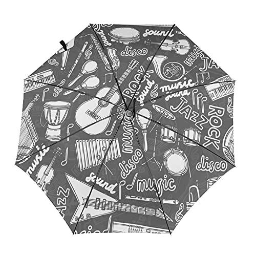 Diseño automático ligero compacto portátil del paraguas del viaje del instrumento musical y alta resistencia al viento