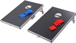 Foldable Bean Bag Toss Game Set CornHole Regulation Size Boards Tailgate Baggo