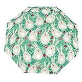 Osterhasen (1) Regenschirm Reise Zuhause Wasserdicht Winddicht Manuell Automatisch Faltbar Klein Regen Outdoor, weiß (Weiß) - Xuanwuyi6328