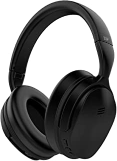 Monoprice BT-300ANC Wireless Over Ear Headphones - Black with (ANC) Active Noise Cancelling, Bluetooth, Extended Playtime