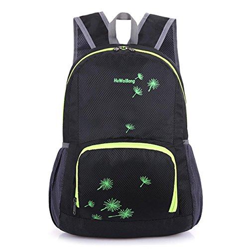 Pliable léger sac à dos Outdoor Sports loisirs imperméable portable escalade randonnée voyage équitation Pack Business Student 5 couleurs H46 x L35 x T18 cm , black
