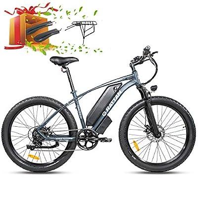 "R RATTAN 750W/500W Mountain Electric Bike 26Inch ×4.0""/ 27.5Inch ×2.8"" Fat Tire Bike 48V 13AH Lithium Battery I-PAS 7 Speed Adult Bicycle 28MPH/25MPH Beach Snow Commute E-Bike 4.3"" Display (27-35-#4)"