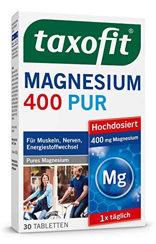 taxofit® Magnesium 400 PUR 3x 30 Tabletten für Muskeln, Nerven, Energiestoffwechsel