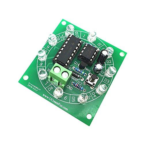 SM SunniMix NE555 Elektronischen Glücksrad Kit / Spaß Elektronische Bausätze DIY Elektronische Produktion