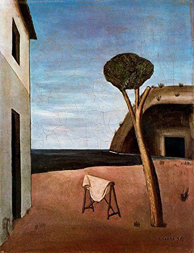 "Carlo Carra A Pine by The Sea 1921 Private Collection 30"" x 23"" Fine Art Giclee Canvas Print (Unframed) Reproduction"