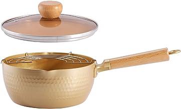 Nostick saucepan,saucepan with lid,saucepan nonstick,Multipurpose Pot,Saucepan with Glass Lid Solid Wood Handle Nonstick S...