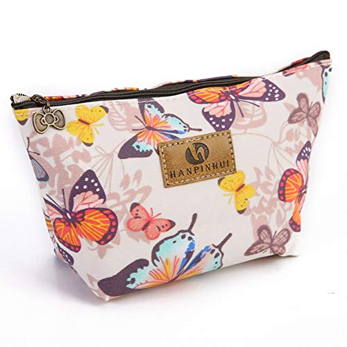 Butterfly Makeup bag Double-sided Printed Waterproof Travel Cosmetic Bag Zipper Pouch Small Toiletry Organizer, Roomy Butterfly Pencil Case for Girls Gifts Bag