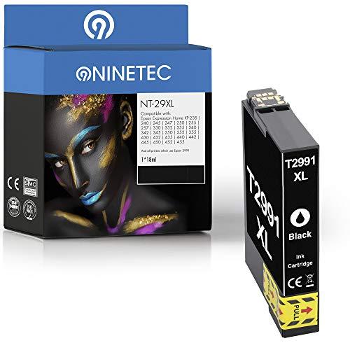 NINETEC NT-29XL Patrone kompatibel mit Epson T2991 29XL Black   Für Expression Home XP-235 240 245 247 250 255 257 330 332 335 340 342 345 350 352 355 430 432 435 440 442 445 450 452 455