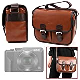 DURAGADGET Bolsa Profesional marrón con Compartimentos para Cámara Nikon Coolpix A1000