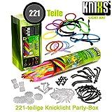 KNIXS Mega Knicklichter Party-Pack / Set im 6-Farb-Mix - 221 Teile für Party, Disko, Festival und...