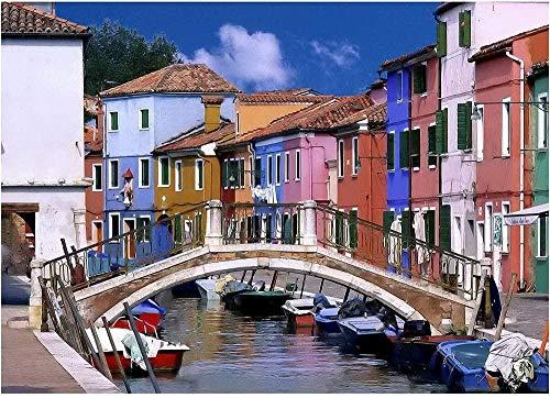 Puzzle Venice Color House Serie Holz Dekompression Spielzeug Intellektuelle Spiele-1500 Tabletten