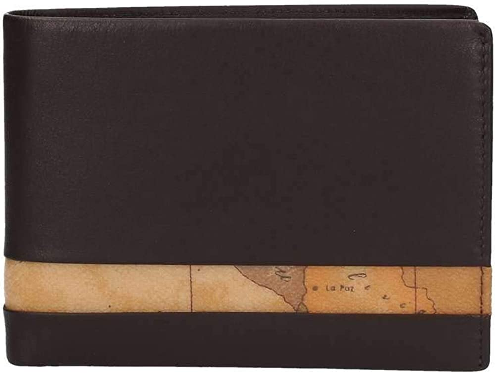Alviero martini 1° classe, porta carte di credito, portafogli da uomo, in pelle e tessuto W143/5600 0500
