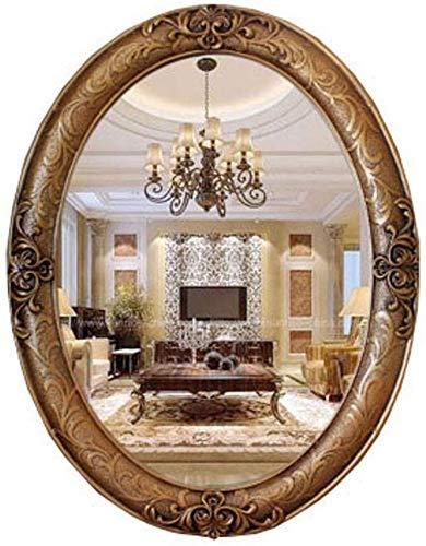 LHQ-HQ Europea Oval Retro Baño Espejo de Maquillaje de Belleza de Entrada Vestir Espejo WC Colgar de la Pared Vestir Espejo (Color: # 3)