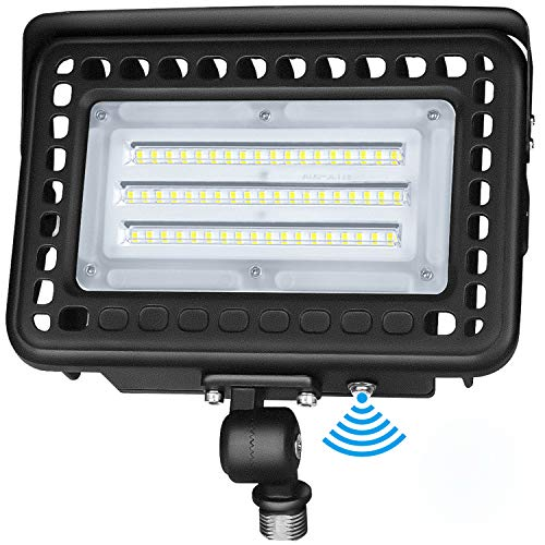 LED Flood Light 60W with 180°Adjustable Knuckle Mount Photocell Dusk to Dawn Outdoor LED Lighting Daylight White 5000K 7800lm 300W MH Equal Waterproof IP65 UL&DLC Listed for Garden Yard, Playground