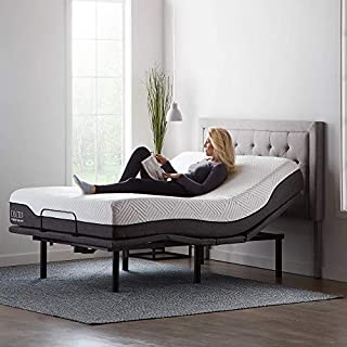 LUCID L600 Adjustable Bed Base Frame - With Massage Features -Bluetooth Compatible with Companion App - Head and Foot Incline - Under Bed Lighting - Dual USB Charging Stations - Queen, Charcoal (B07Y8ZXYNP)   Amazon price tracker / tracking, Amazon price history charts, Amazon price watches, Amazon price drop alerts