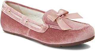 Vionic Womens Haven Alice Holiday Slipper - Ladies Moccasin Concealed Orthotic Arch Support