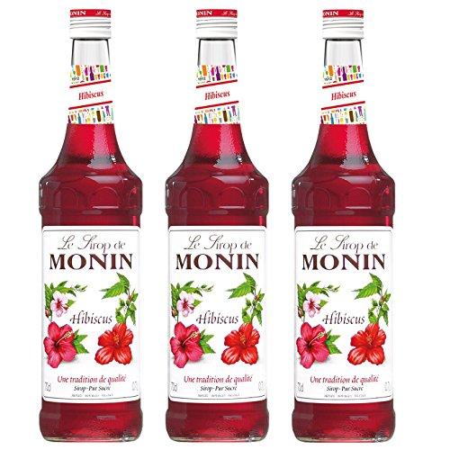 Monin Sirup Hibiskus, 0,7L 3er Pack