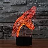 Likaxyd Ilusión 3D Luz Nocturna,Con Ilusión En 3D De 7 Colores E Interruptor,Mejor Para Niños Navidad Cumpleaños Regalo [Clase De Eficiencia Energética A++]-La Caries Dental De La Víbora