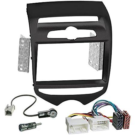 Carmedio Hyundai Ix20 Ab 10 2 Din Autoradio Einbauset In Original Plug Play Qualität Mit Antennenadapter Radioanschlusskabel Zubehör Und Radioblende Einbaurahmen Mattschwarz Navigation