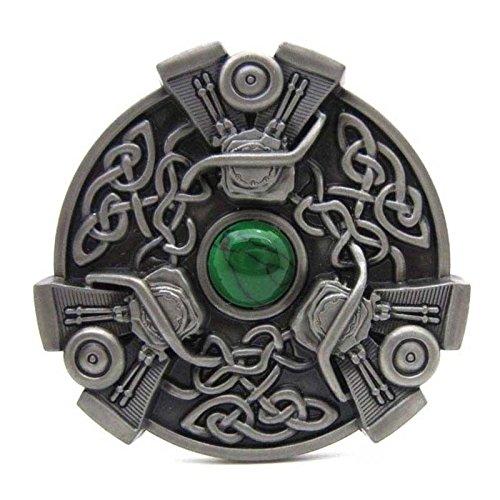 Belt Buckle Vintage Trinity Celtic Irish Knot Medieval Western Cowboy Turquoise