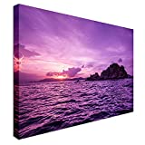 Qbbes, Pelican Island Sunset Canvas Wall Art Picture Print-16x12inch(40x30cm)no frame