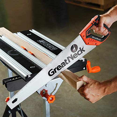 GreatNeck 74002 20 Inch Aggressive Tooth Handsaw for Rough Cuts, Wood saw, Branch Cutter, PVC Cutter, and More, Anti-Slip Ergonomic Composite Handle