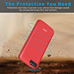 Aedlyk Battery Case For Iphone 66s78se 2020 Upgrade 4000mah Rechargeable Charging Case Magnetic Slim Phone External Battery Pack Protective Charger Case For Iphone 66s78 47inch Red