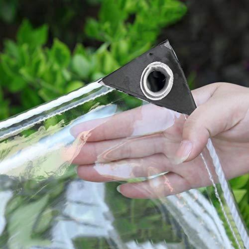 Wasserdichte Transparente Plane mit Ösen,Wetterfeste Plane Strapazierfähige Vordächer Faltbar PVC Folie,0,3mm Regenschutz Abdeckplane,für...