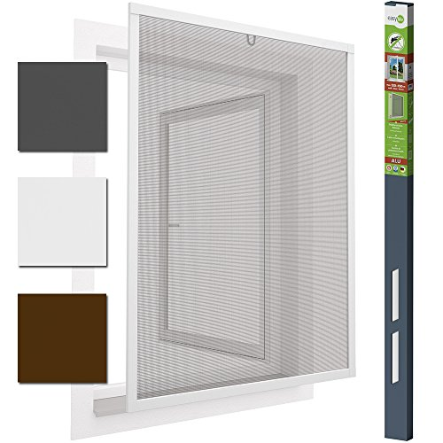 Insektenschutzfenster Alu Fliegengitter 130 x 150 cm proLINE Weiss