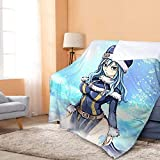 RKRCXH Soft Manta Fairy Tail Juvia Lockser Manta Anime Print Franela Fleece Manta Ultra Suave y cálida Sherpa Throw Blanket para Cama/sofá 150X200cm - 364km 39