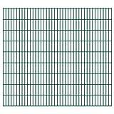 VIENDADPOW Zaunfelder 2D Gartenzaun-Elemente 2,008x1,83 m Gesamtlänge 40 m Grün