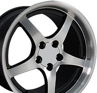 OE Wheels 18 Inch Fits Chevy Camaro Corvette Pontiac Firebird C5 Deep Dish Style CV05 Gloss Black Machined 18x10.5 Rim Hollander 5122