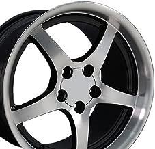 OE Wheels 18 Inch Fits Chevy Corvette Camaro Pontiac TransAm C5 Style CV05 18x10.5/17x9.5 Rims Gloss Black Machined SET