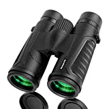 Dessports Binoculars for Adults Bird Watching - 18mm Large Eyepiece - Compact Lightweight Low Light Vision Powerful with Crystal Bright BAK4 Prism - 12x42 Binocular for Hunting Hiking Sports Concerts