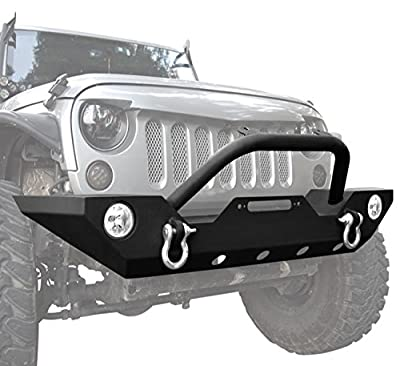 DIYTUNINGS Bumper Kit for Jeep Wrangler JK JKU Unlimited Rubicon Sahara 2007-2017