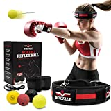 Boxvale Boxing Reflex Ball for Hand Eye Coordination Training, Set of 4 Multilevel Agility Balls with a Headband and a Pair of Hand Wraps. Perfect Reflex Training Kit for Adults and Kids