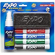 Expo Low-Odor 6-Piece Dry Erase Marker Set, Chisel Tip, Assorted Colors (80653)