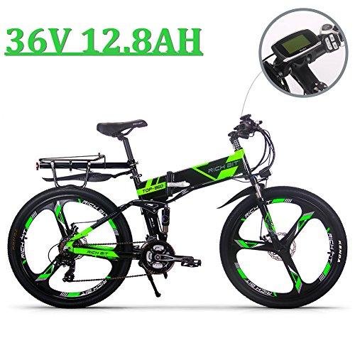 eBike_RICHBIT 860 Hombres Bicicleta eléctrica de montaña Plegable 17 X 26 Pulgadas...