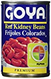 Goya Red Kidney Beans Habichuelas Coloradas Premium- 15.5 Oz Cans (6 Pack)...