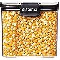 Sistema J7S91 Ultra Square Food Container, 700ml, Black…