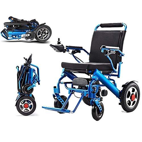 Faltbarer Elektrisch Rollstuhl, Medizinischer Sicher Leichte Roller Transportrollstühle Tragbarer Elektro Mobilitätshilfe und Einfach Zu Fahren für ältere Und Behinderte Menschen