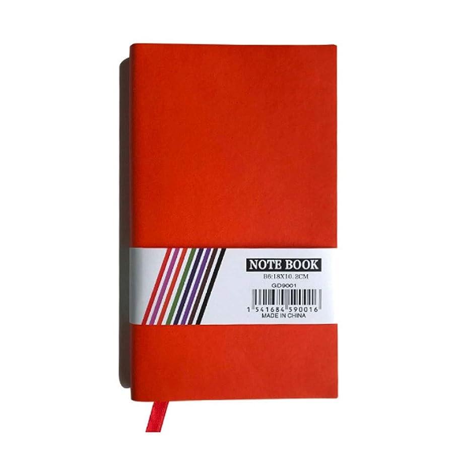 余計なぐるぐる学期メモ帳 仕事旅行大学のためのノート支配されたジャーナルジャーナルハードカバー日記帳学習本学生普通紙タブ ノート (Color : Red)