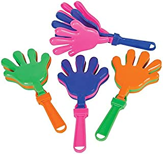 Rhode Island Novelty 7.5 inch Hand Clapper Noisemakers Pack of 12